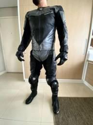 Macacão moto esportiva 2 peças + botas + luvas