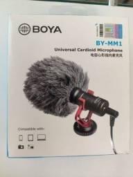 Mini Microfone Cardioide De Metal Boya BY-MM1