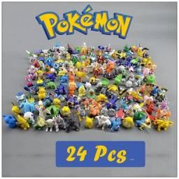 Bonecos pokémon kit com 24 pokémon go