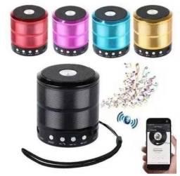 Mini Caixa De Som Portátil Bluetooth cartao micro sd usb radio fm Ws-887 - Várias cores