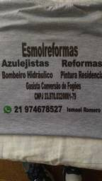 Bombeiro Hidráulico, Conversão De Fogões, Gasista, Ladrilheiro,Reformas