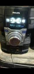 Rádio Philips com 6 caixas de som