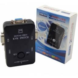 (WhatsApp) chaveador switch vga kvm 2 portas usb kvm21ua