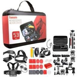 Título do anúncio: Kit Acessórios Action Camera 53 Em 1 Maleta GoPro