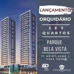 Super Lançamento - 2/4 com 1 suíte, varanda - Orquidário