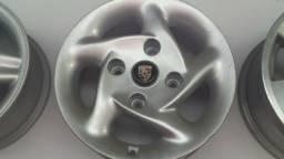 Roda aro 14 Porsche 914 Prata Fusca 4X130 Volkswagen