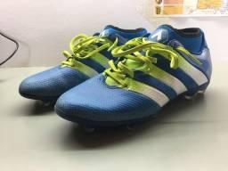 Chuteira Adidas Ace 16.2 Primemesh FG AG azul semi-nova em ótimo estado 7e683d79cb272