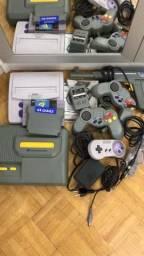 Jogo de Super Nintendo e Dynavision 64