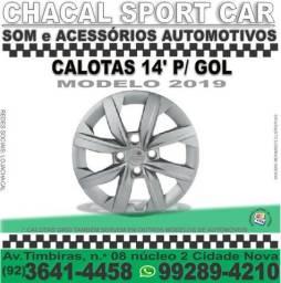 Calota tamanho 14' Gol 2019 (produtos novos e com nota fiscal) serve em outros modelos