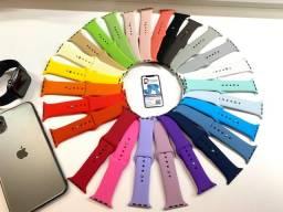 Pulseiras silicone para Apple Watch. Várias cores e tamanhos .