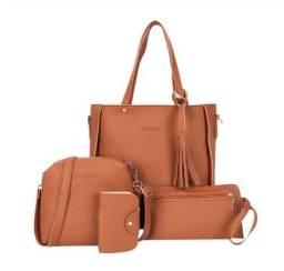 Kit bolsas feminina com 4 peças