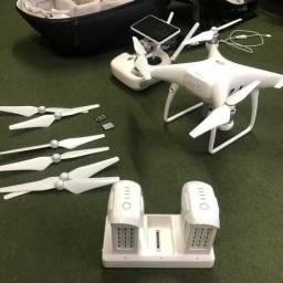 Drone Dji Phantom 4 + Com Tela + 02 Baterias + Cartão