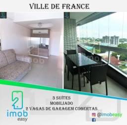 Alugo Ville de France, 115 m², 3 suítes, mobiliado, climatizado
