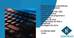 Formatação e Manutenção computador e notebooks