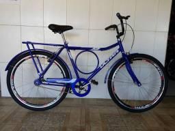 Bicicleta barra circular nova azul