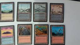 Aceito propostas - Coleção terrenos raros de Magic the Gathering 4a edição borda preta