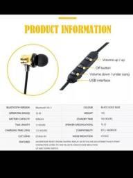 Fones Bluetooth Esportivo Magnético