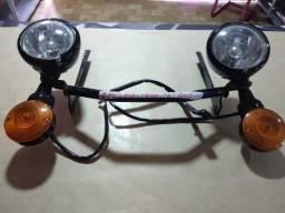 Suporte com faróis e setas/ originais Harley Davidson/ Heritage