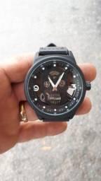 Relógios Analógicos Caveira Importado Estilo Hublot Pulseira de Couro