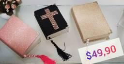 Bíblia em courino Luxo Glitter