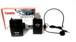 Microfone Sem Fio Headset Completo Mt-2205 Tomate