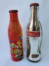 Garrafa Coca Cola Edição Limitada Cromada 1988 E 2010 Kit