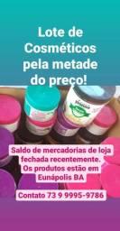 Cosméticos pela metade do preço em Eunápolis Bahia, de R$ 17862,00 por R$ 8931,00