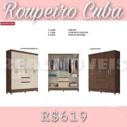 Título do anúncio: Guarda-roupa CUBA / GUARDA-ROUPA CUBA