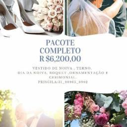 Pacote completo para casamento R$6,200