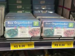 Box Organizador de plástico 16x9x3,5 cm somente 8 reais a unidade
