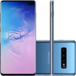 """Smartphone Samsung Galaxy S10+ plus, com 128 Gb, 8 Gb  de RAM, tela de 6,4""""."""
