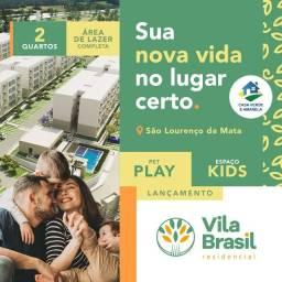 VMC-Vila Brasil | São Lourenço com 2 quartos 1 com suíte reversível e Área de lazer!