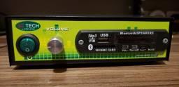 Receiver som ambiente Bluetooth FM e MP3 USB