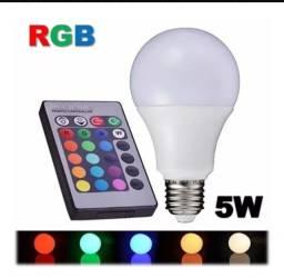 Lâmpada RGBW 5w com controle