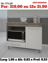 Promoção em MS- Balcão de Microondas-Balcão Cooktop-Armario-Cozinha