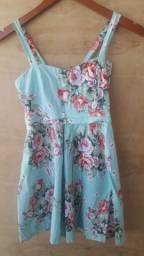 Vestido infantil Floral 100% algodão semi-novo 8 a 10 anos