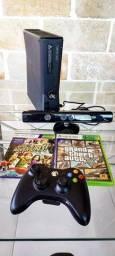 Xbox 360 com Kinect, controle, gta 5 E Kinect Adventures - Perfeito estado