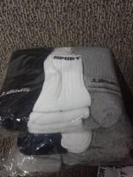Kit com 12 pares de meia