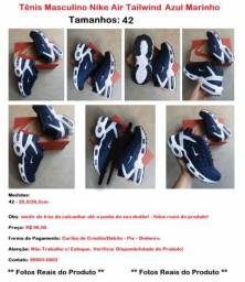 Tênis Masculino Nike AT Azul Marinho e Branco Unissex <br>