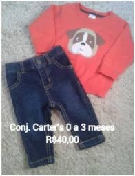 Conjunto Carter's + acessórios