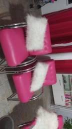 Poltronas rosa pink tenho 2