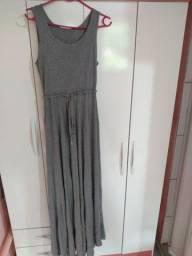 Vestido longo cinza -G