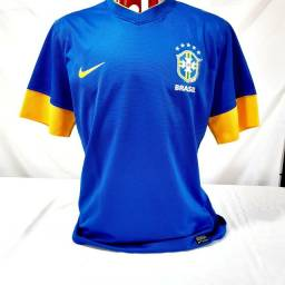 Camisa Seleção Brasil Nike Azul Futebol Original 2012 Olimpíadas