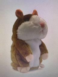 Título do anúncio: Boneco pelúcia hamster falante 15cm repete o que você fala