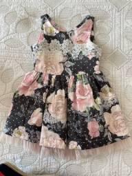 Vestido de Festa Infantil Estampado