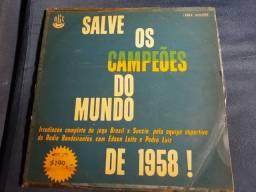 LP vinil salve os campeões do mundo de 1958 (item colecionador)