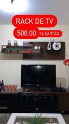 Rack de sala com gaveta, porta e espelho! 500,00 10X cartão