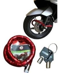 Título do anúncio: Cadeado Com Chave Segredo 1 Metro - Capacete - Moto - Carro