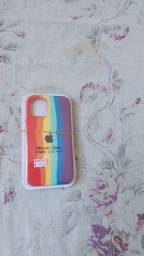 Título do anúncio: Case iphone aveludados arco-íris