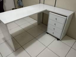 escrivania de canto office presence + gaveteiro zap  *